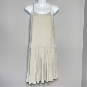 OSKLEN Cream Casual Skater Dress Size Large